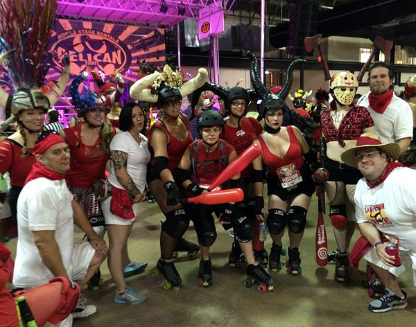 Cajun Rollergirls at 2014 Running of the Bulls