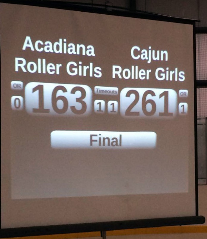 Cajun Rollergirls defeat Acadiana Rollergirls in 2014 season finale
