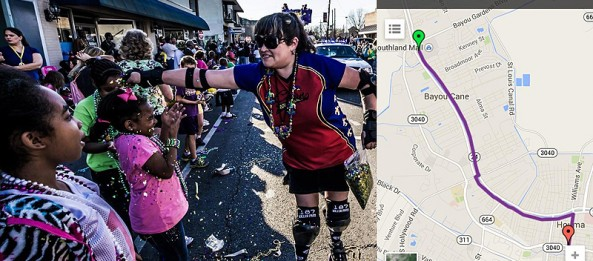 Paradin' with the Krewe of Titans on Feb. 8