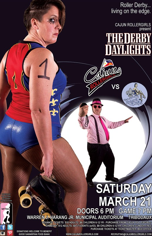 Cajun Rollergirls to Host Acadiana Roller Girls on March 21