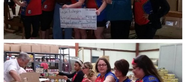 Cajun Rollergirls Help the Good Samaritan Food Bank