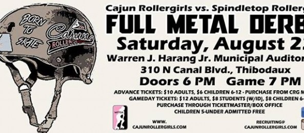 Cajun Rollergirl to host Spindletop Rollergirls Aug. 22 in Thibodaux!