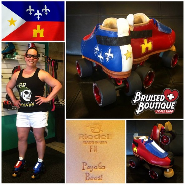 Psycho Beast's new skates – courtesy of Reidell and Bruised Boutique