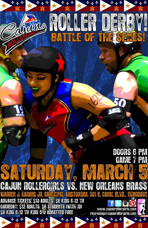 Cajun Rollergirls to face New Orleans Brass to open 2016 season
