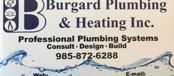 New Sponsor – Burgard Plumbing