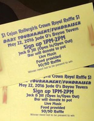 CRG to Host Dart Tournament Fundraiser May 22 @ Jude-O's
