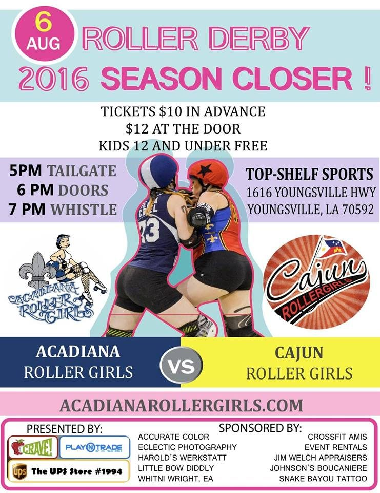 CRG Heads Back to Youngsville to Rematch Acadiana Roller Girls!