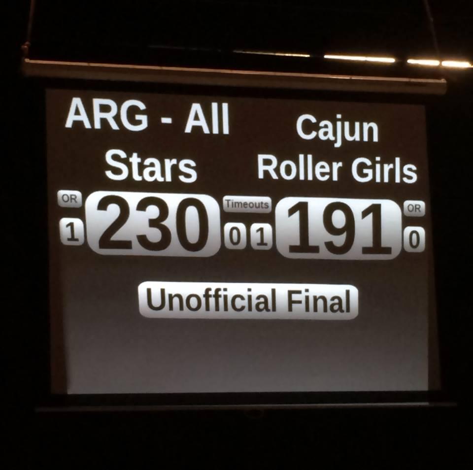 CRG falls to Acadiana Roller Girls in 2014 Season Opener