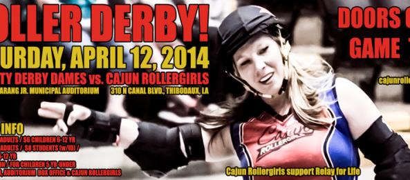 Cajun Rollergirls to Host Hub City Derby Dames' Southern Misfits for April 12 Game at Harang Auditorium