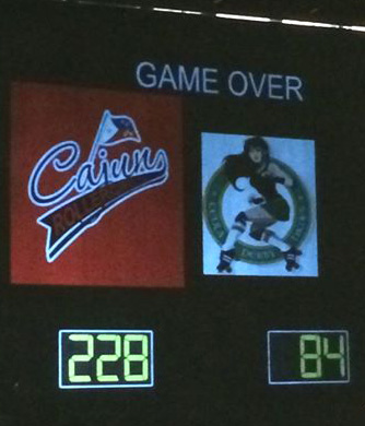 Cajun Rollergirls take the win over CenLa Derby Dames!