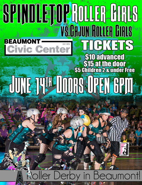 CRG travels to Spindletop Rollergirls for June 14 game