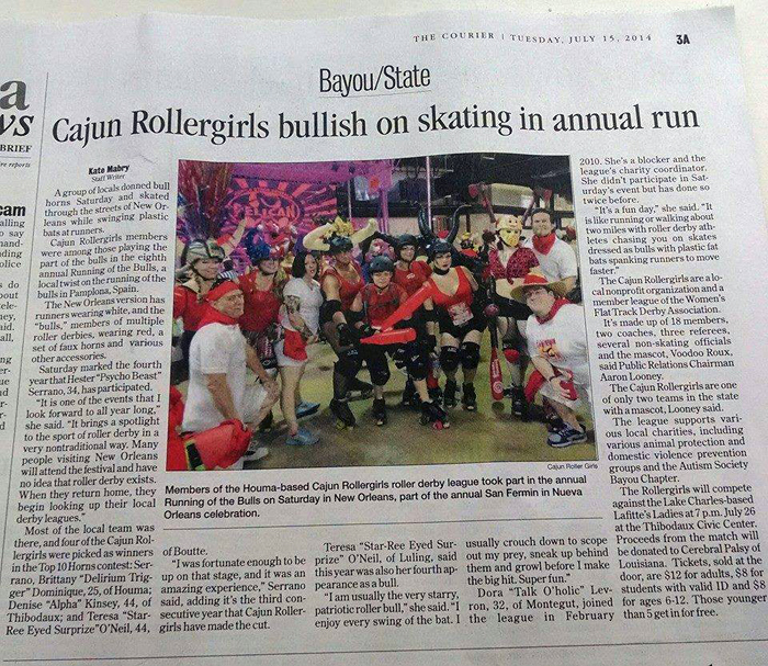 CRG in The Houma Courier!