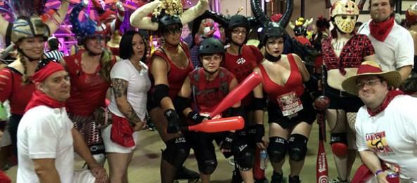 Cajun Rollergirls at 2014 Running of the Bulls