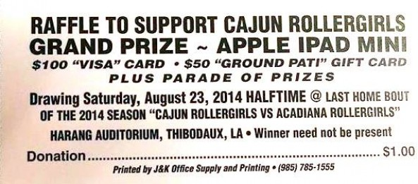 Get Your CRG Raffle Tickets NOW!