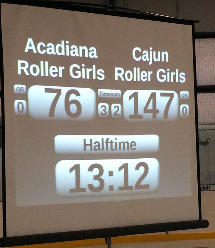 Halftime score from Youngsville – CRG leads ARG!