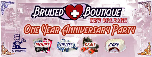 Happy Anniversary to Bruised Boutique!