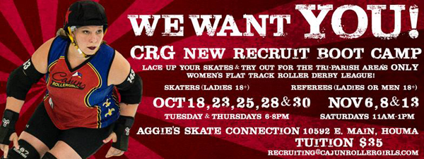 First Skate Session of CRG New Recruit Boot Camp is SATURDAY!