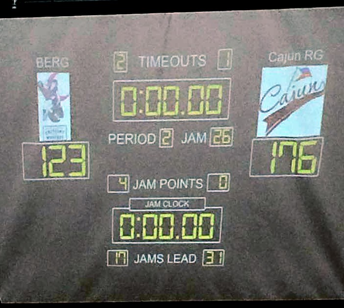 Cajun Rollergirls take the win over Crescent Wenches!