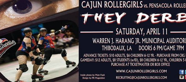 Cajun Rollergirls host Pensacola Roller Gurlz on April 11