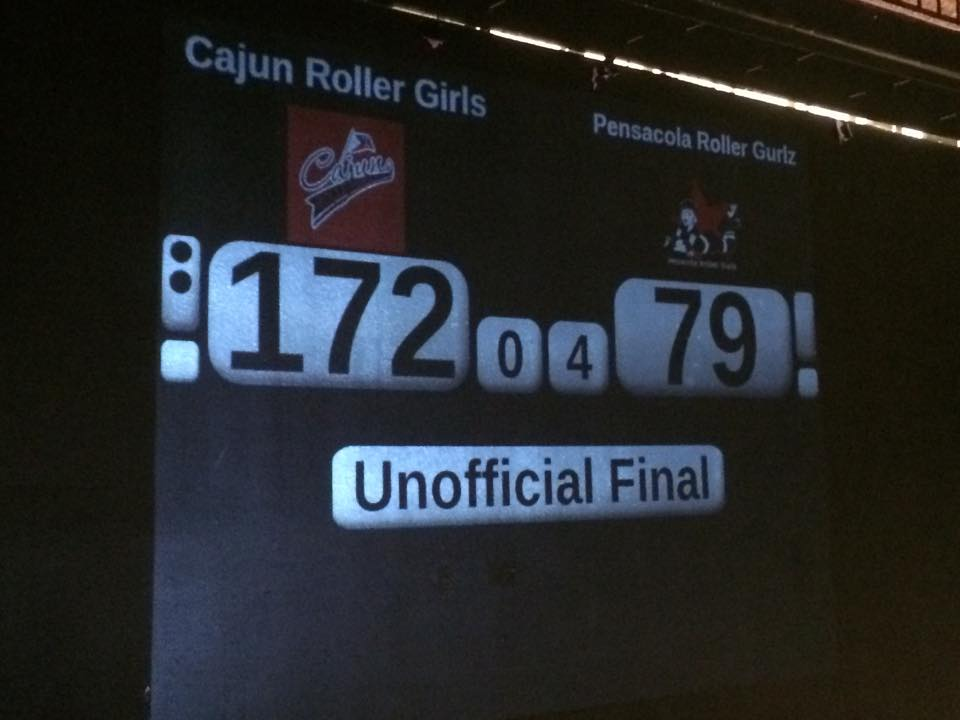 Cajun Rollergirls Take the Win Over Pensacola!