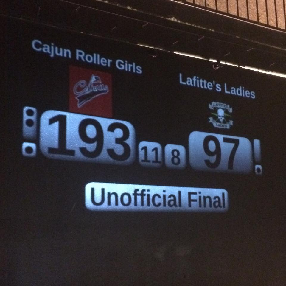 Cajun Rollergirls close 2015 home slate with victory