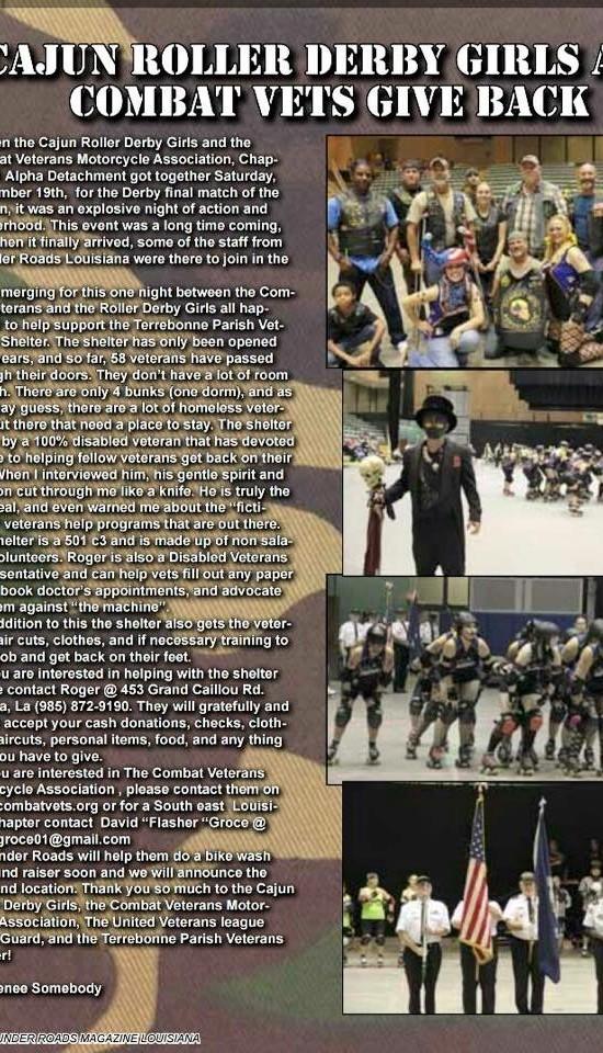 CRG and Combat Vets in Thunder Roads Louisiana Magazine!