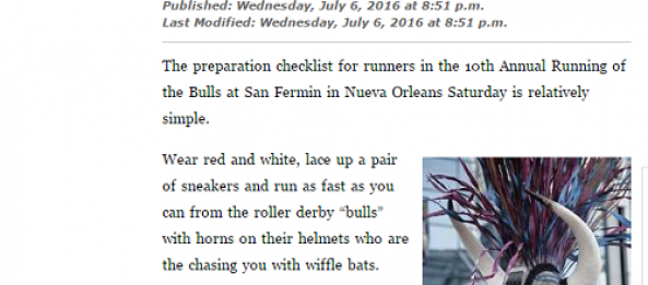 CRG Ready for Another Running of the Bulls in NOLA!